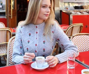 blonde, cafe, and chic image