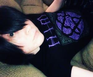 black hair, heartagram, and scene image