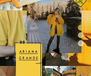 wallpaper, yellow, and ariana grande image