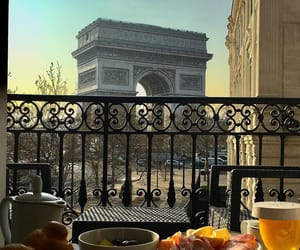 arc de triomphe, champs elysees, and good morning image