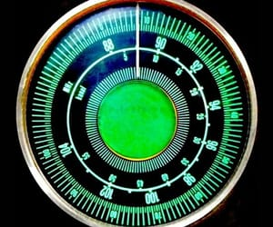 dial, green, and radio image
