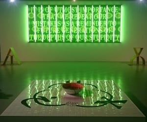 contemporary art, green, and lime image