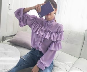 aesthetic, asian, and blouse image