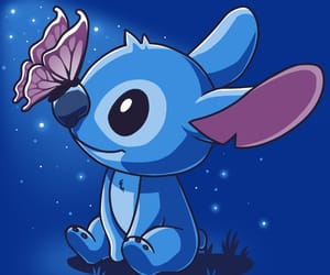 butterfly, disney, and stitch image