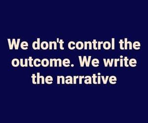 outcome, control, and narrative image