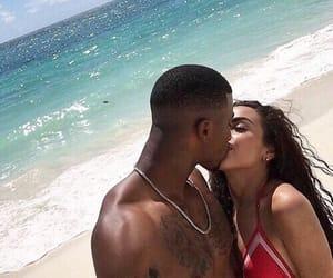 beach, couple, and couplegoal image