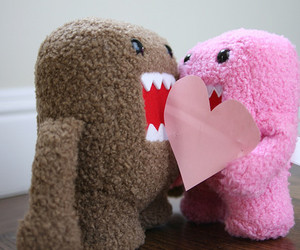domo, heart, and pink image