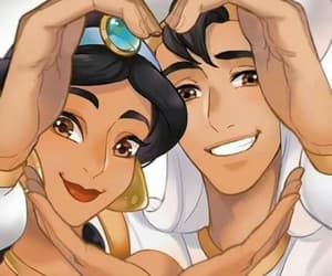 aladdin, heart, and cartoon image