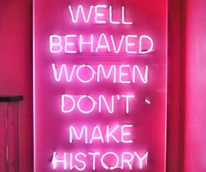 women, neon, and pink image
