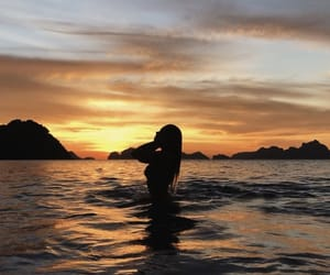 girl, Philippines, and ocean image