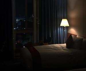 dark, lamp, and light image