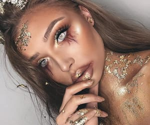 eyebrows, eyeliner, and Halloween image
