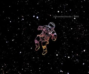 astronaut, background, and phone image