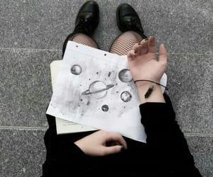 black, grunge, and art image