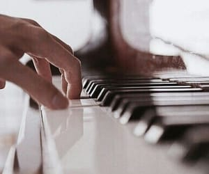 piano, music, and song image