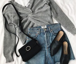 girl, bag, and clothes image