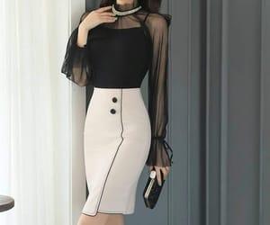 black, fashion, and اسود image