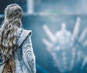 game of thrones, daenerys targaryen, and iron throne image