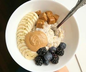 banana, peanutpaste, and berries image