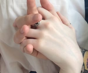 couple, aesthetic, and hands image
