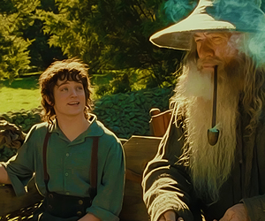 frodo, gandalf, and lord of the rings image