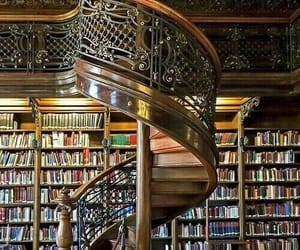 library, architecture, and books image