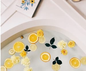 yellow, bath, and lemon image