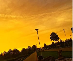 yellow, sky, and aesthetic image