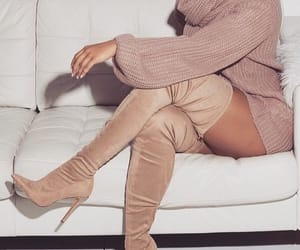 beige, boots, and fashionista image