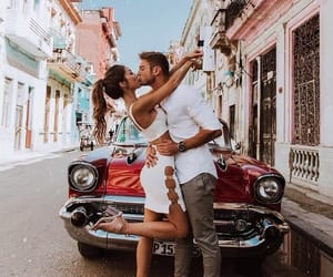 car, couple, and outfit image
