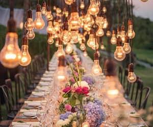 light, flowers, and wedding image