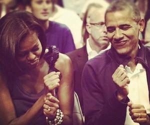 obama, couple, and president image