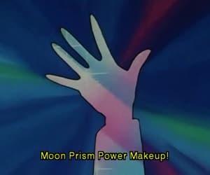 90s, anime, and moon image