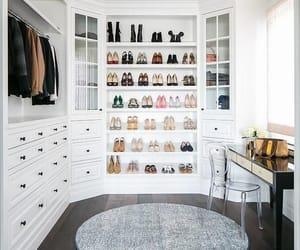closet, clothes, and heels image