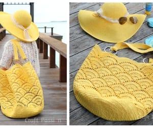 crochet and beach bag image