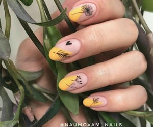 nails, yellow, and اظافر image