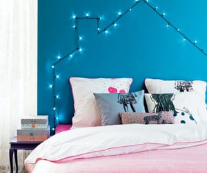bedroom, girly, and fairy lights image