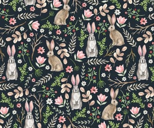 bunnies, easter, and pattern image