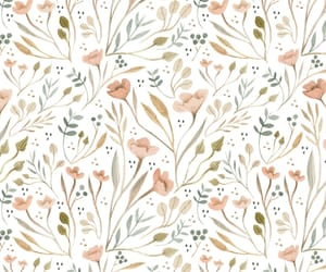 pattern and flowers image
