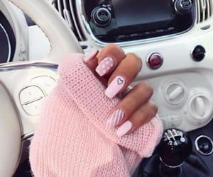 pink, nails, and fashion image