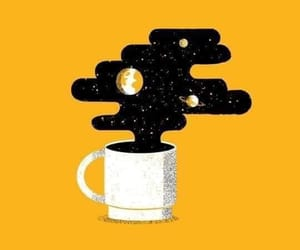 wallpaper, coffee, and yellow image