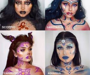 aquarius, makeup, and maquillage image