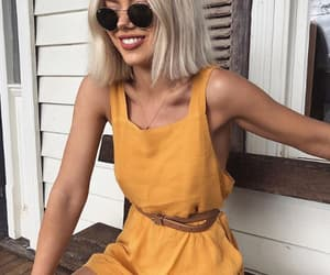 yellow, girl, and romper image