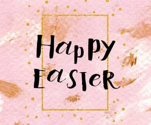easter, gold, and happy easter image