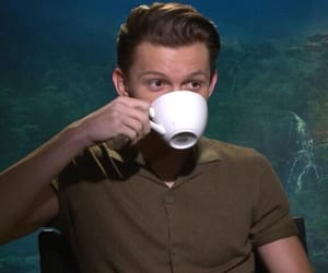 meme, tea, and tom holland image