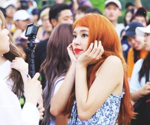 orange hair, twice, and son chaeyoung image
