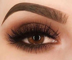 makeup, eyebrows, and eyes image