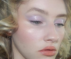 aesthetic, blonde, and makeup image