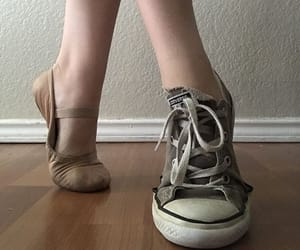 ballet, ballet shoes, and converse image