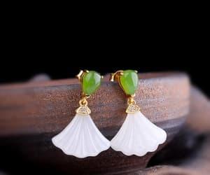 etsy, jewelry, and wedding earrings image